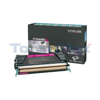 LEXMARK C734 TONER CART MAGENTA RP TAA
